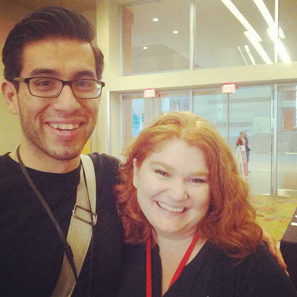 Me with AIGA Arizona President Niki Blaker.
