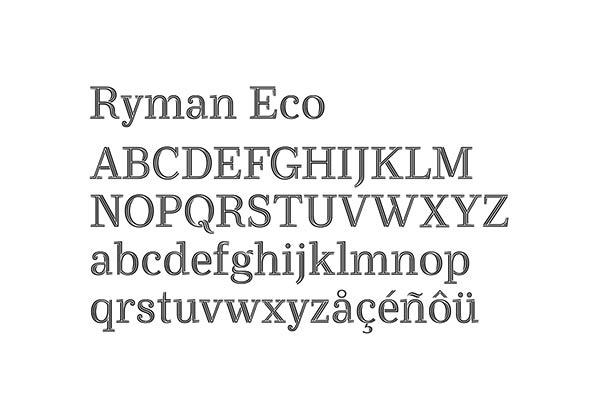 Ryman Eco typeface