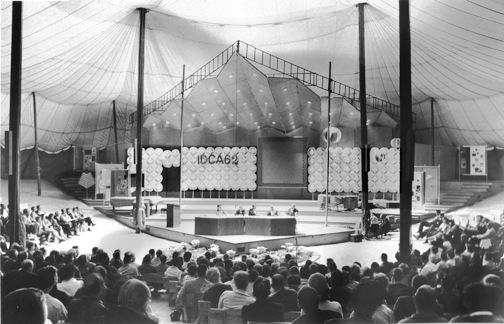 A panel discussion at the International Design Conference at Aspen 1962 photo by James Milmoe