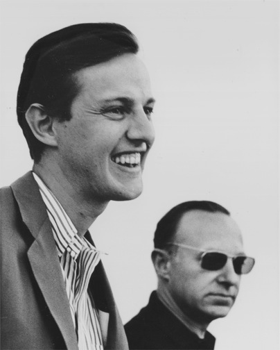 NYC graphic designer Ivan Chermayeff and British architecture critic Peter Blake in 1964
